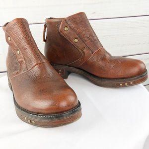 SH101 Caterpillar rare leather booties